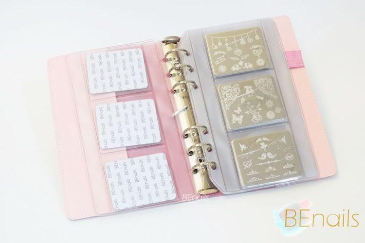 BEnails轉印美甲-(粉)轉印鋼板收納本,附6入獨家設計專用活頁BEnails_loose_leaf_notebook_pink_06