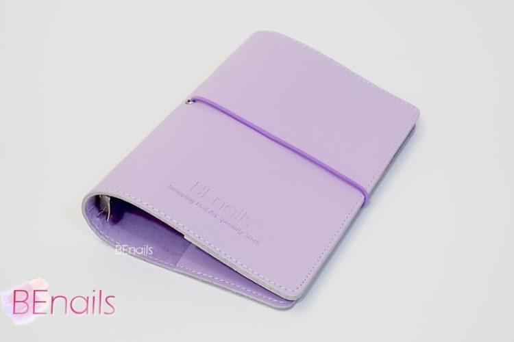 BEnails轉印美甲-(紫)轉印鋼板收納本,附6入獨家設計專用活頁