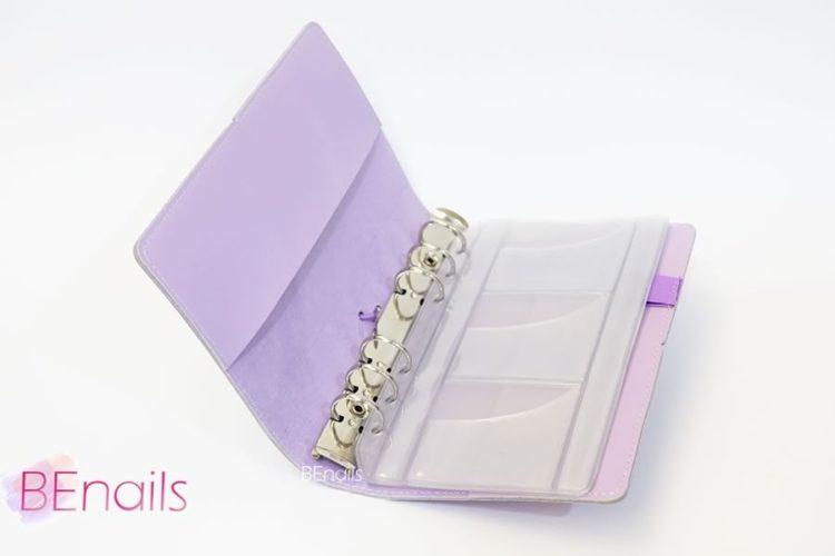BEnails轉印美甲-(紫)轉印鋼板收納本,附6入獨家設計專用活頁BEnails_loose_leaf_notebook_purple_04