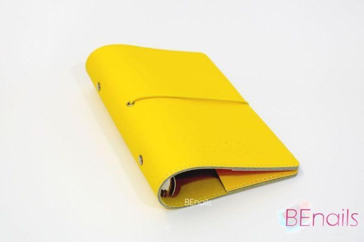 BEnails轉印美甲-(黃)轉印鋼板收納本,附6入獨家設計專用活頁BEnails_loose_leaf_notebook_yellow_01
