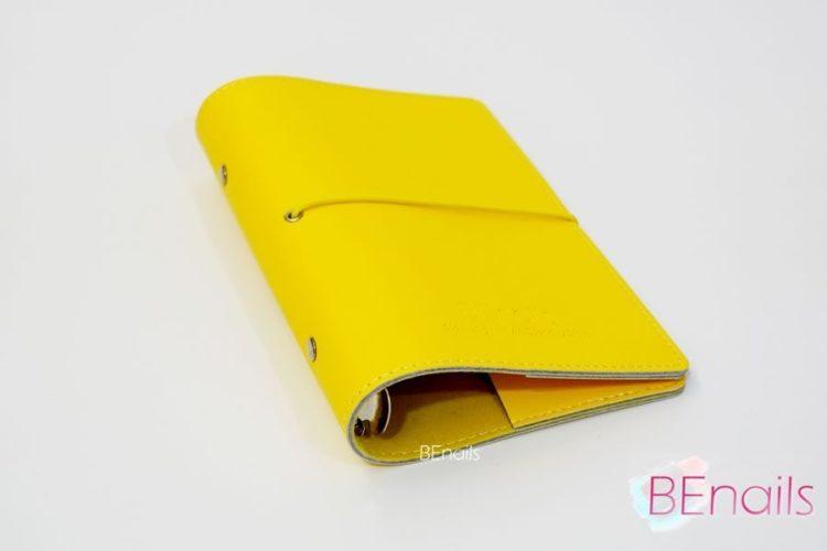 BEnails轉印美甲-(黃)轉印鋼板收納本,附6入獨家設計專用活頁BEnails_loose_leaf_notebook_yellow_02