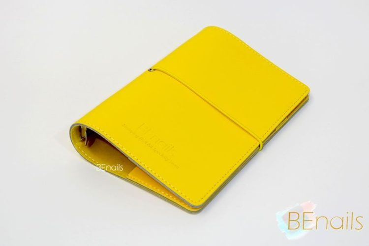 BEnails轉印美甲-(黃)轉印鋼板收納本,附6入獨家設計專用活頁