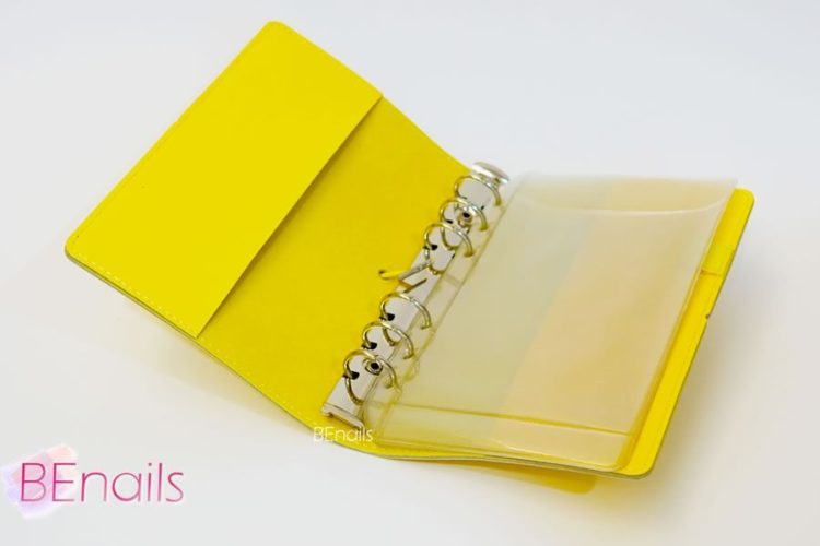 BEnails轉印美甲-(黃)轉印鋼板收納本,附6入獨家設計專用活頁BEnails_loose_leaf_notebook_yellow_05