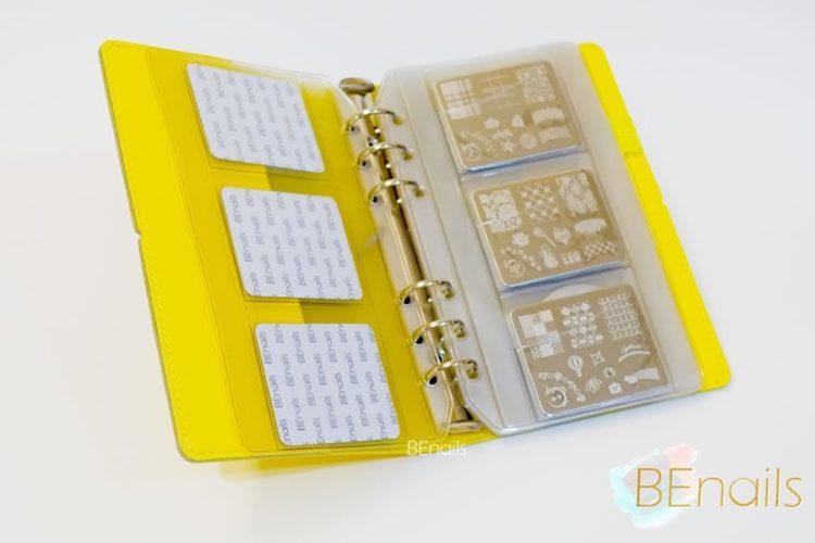 BEnails轉印美甲-(黃)轉印鋼板收納本,附6入獨家設計專用活頁BEnails_loose_leaf_notebook_yellow_07