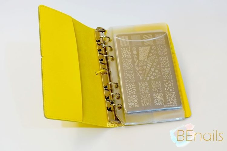 BEnails轉印美甲-(黃)轉印鋼板收納本,附6入獨家設計專用活頁BEnails_loose_leaf_notebook_yellow_08
