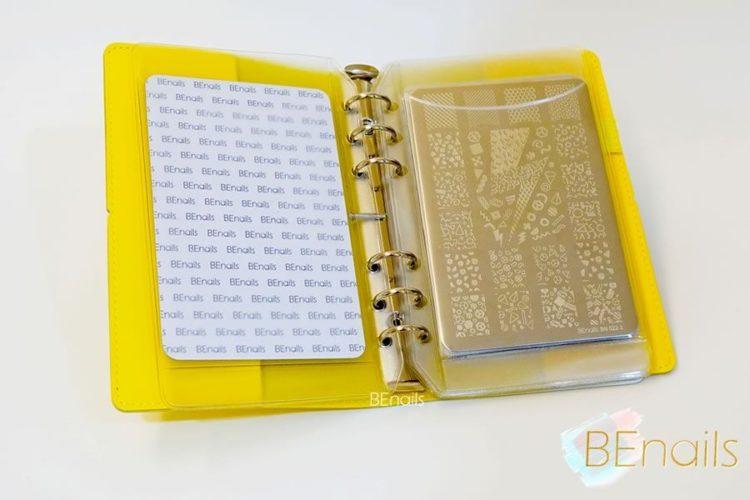 BEnails轉印美甲-(黃)轉印鋼板收納本,附6入獨家設計專用活頁BEnails_loose_leaf_notebook_yellow_09
