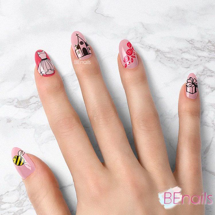BEnails轉印美甲-SC013-3 Love Color -美夢粉(小圓轉印鋼板)美甲DIY指甲彩繪作品benails_SC013-3_001