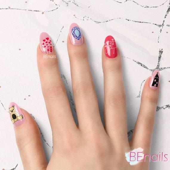 BEnails轉印美甲-SC013-4 Love color -寶貝紫(小圓轉印鋼板)美甲DIY指甲彩繪作品