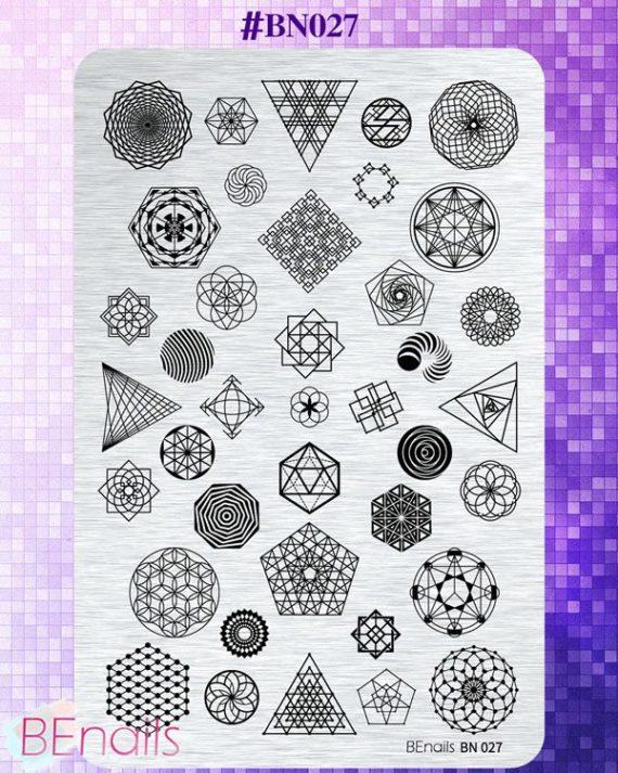 BEnails轉印美甲-BN027 幾何未來-時間之輪